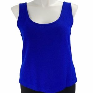 St. John knit tank top blue with issues size large